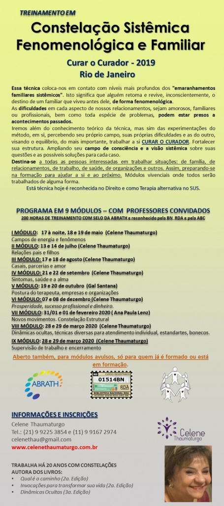 treinamento constelação RJ 2019